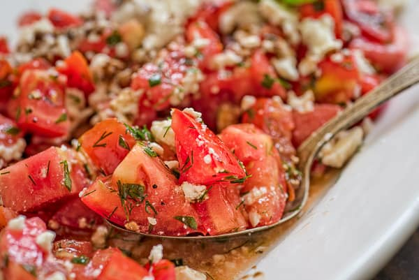 This simple Tomato Feta Salad is one of the best, easiest salads you